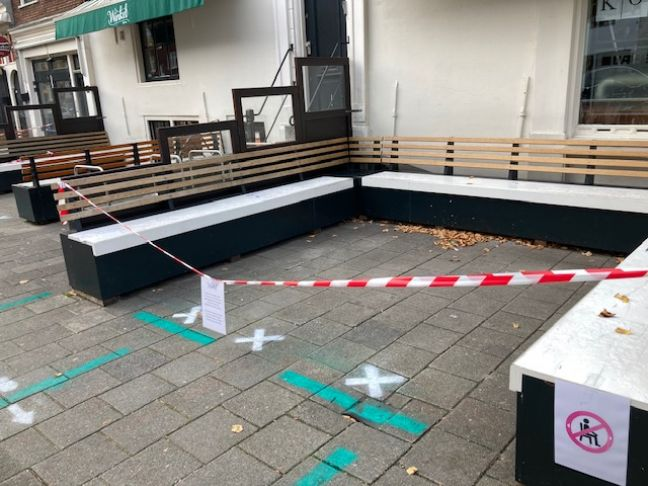 A closed cafe in Amsterdam. Photo: DutchNews