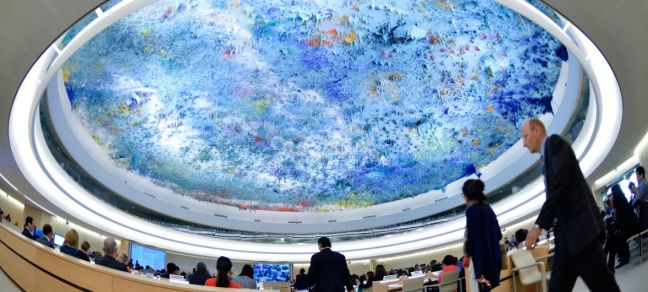 UN Photo/Jean-Marc Ferre A general view of the Geneva-based UN Human Rights Council in session.