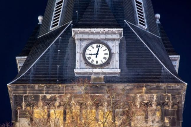 The clock on the Grote Kerk in Enschede. Photo: Depositphotos