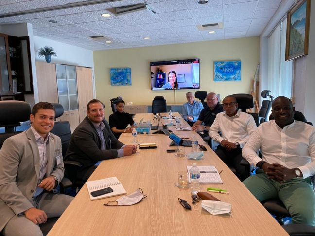 Representatives from RCG and Port St. Maarten during a meeting earlier this week.